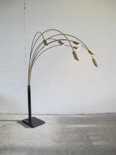 Large Brass Arc Floor Lamp Italy 1970s - 1396640