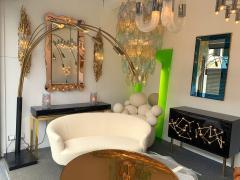Large Brass Arc Floor Lamp Italy 1970s - 1396645