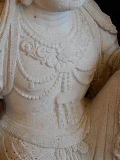 Large Burmese Guan Yin Garden Stone Statue 1920s - 992239