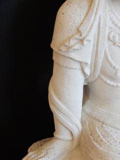 Large Burmese Guan Yin Garden Stone Statue 1920s - 992240