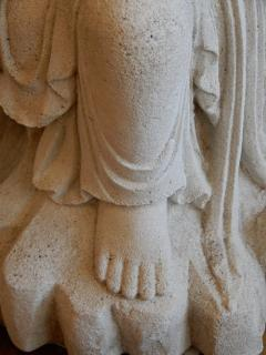 Large Burmese Guan Yin Garden Stone Statue 1920s - 992242