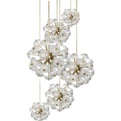 Large Cascade Light Fixture with Five Sputniks in the Style of Emil Stejnar - 1012798