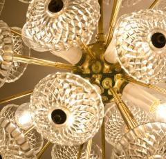 Large Cascade Light Fixture with Five Sputniks in the Style of Emil Stejnar - 1012800