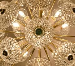 Large Cascade Light Fixture with Five Sputniks in the Style of Emil Stejnar - 1012801