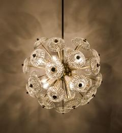 Large Cascade Light Fixture with Five Sputniks in the Style of Emil Stejnar - 1012802