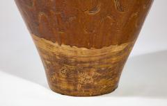 Large Chinese Martaban Ming Dynasty Stoneware Storage Vase with Dragons - 1566400