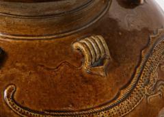 Large Chinese Martaban Ming Dynasty Stoneware Storage Vase with Dragons - 1566402
