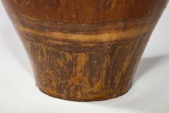 Large Chinese Martaban Ming Dynasty Stoneware Storage Vase with Dragons - 1566406