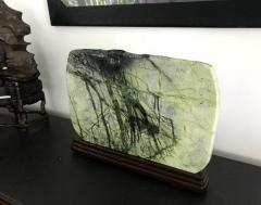 Large Chinese Scholar Greenery Stone on Stand - 997016