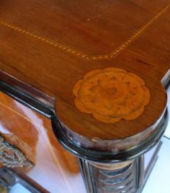 Large Classical Mahogany Walnut Satinwood Ebonized Wood Sideboard Credenza - 1122008