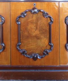 Large Classical Mahogany Walnut Satinwood Ebonized Wood Sideboard Credenza - 1122009