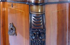 Large Classical Mahogany Walnut Satinwood Ebonized Wood Sideboard Credenza - 1122010