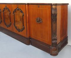 Large Classical Mahogany Walnut Satinwood Ebonized Wood Sideboard Credenza - 1122011