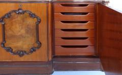 Large Classical Mahogany Walnut Satinwood Ebonized Wood Sideboard Credenza - 1122013