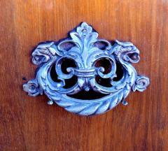 Large Classical Mahogany Walnut Satinwood Ebonized Wood Sideboard Credenza - 1122015