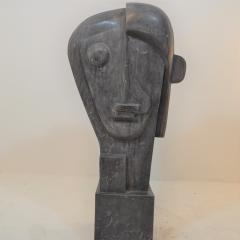 Large Cubist Sculpture in Blue Stone in the style of Picasso 1930s - 1043694