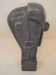 Large Cubist Sculpture in Blue Stone in the style of Picasso 1930s - 1043695