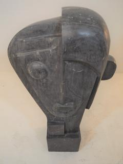 Large Cubist Sculpture in Blue Stone in the style of Picasso 1930s - 1043696