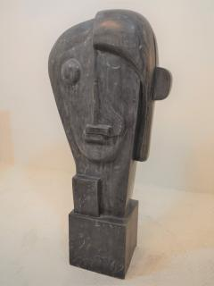 Large Cubist Sculpture in Blue Stone in the style of Picasso 1930s - 1043697