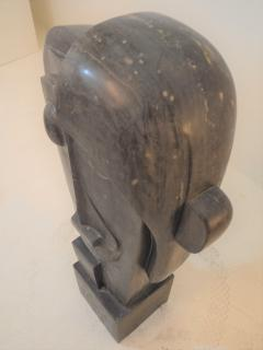 Large Cubist Sculpture in Blue Stone in the style of Picasso 1930s - 1043698