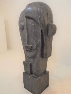 Large Cubist Sculpture in Blue Stone in the style of Picasso 1930s - 1043699