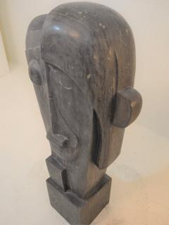 Large Cubist Sculpture in Blue Stone in the style of Picasso 1930s - 1043701