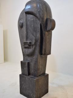 Large Cubist Sculpture in Blue Stone in the style of Picasso 1930s - 1043702