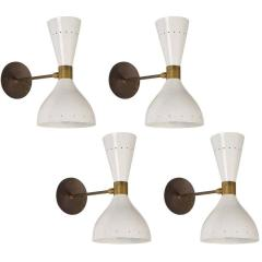 Large Double Cone Italian Sconce in the Style of Stilnovo - 1246214