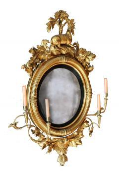 Large Early 19th Century American Regency Girandole Looking Glass - 1743613