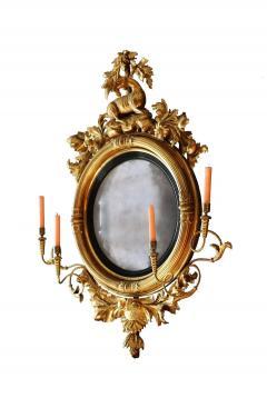 Large Early 19th Century American Regency Girandole Looking Glass - 1743622