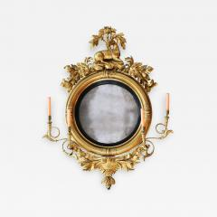 Large Early 19th Century American Regency Girandole Looking Glass - 1743803