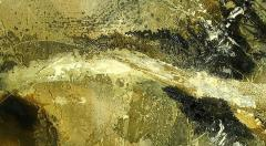 Large Earth Tone Oil and Gesso Relief Abstract by Hardy - 231773