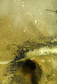 Large Earth Tone Oil and Gesso Relief Abstract by Hardy - 231774