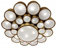 Large Enameled German Light Fixture 5 Available  - 1282000