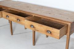 Large English Pine Work Prep Table Dresser Base - 2113054