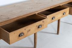 Large English Pine Work Prep Table Dresser Base - 2113055