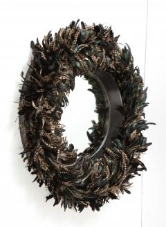 Large Feathered Mirror - 1842649