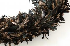 Large Feathered Mirror - 1842654