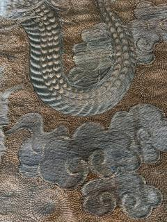Large Framed Japanese Embroidery Dragon Tapestry - 1161340