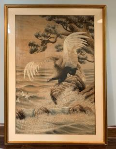 Large Framed Japanese Embroidery Tapestry - 1385505