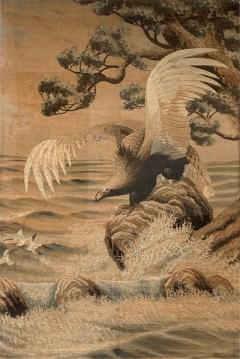 Large Framed Japanese Embroidery Tapestry - 1385749