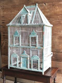Large French Painted Birdcage 19th Century - 1040644