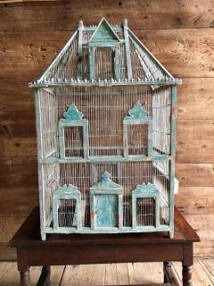 Large French Painted Birdcage 19th Century - 1040649