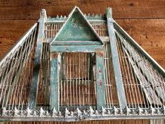 Large French Painted Birdcage 19th Century - 1040650
