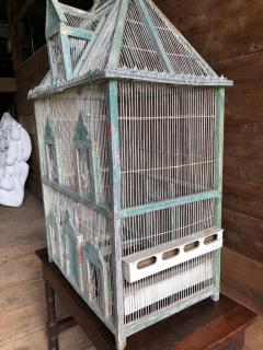 Large French Painted Birdcage 19th Century - 1040651