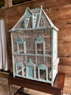 Large French Painted Birdcage 19th Century - 1040652