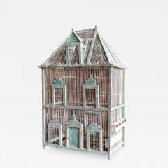 Large French Painted Birdcage 19th Century - 1042139