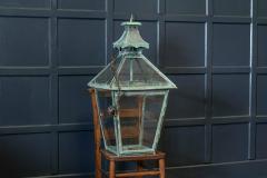 Large French Verdigris Copper Lantern - 1975693