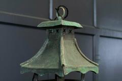 Large French Verdigris Copper Lantern - 1975734