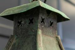 Large French Verdigris Copper Lantern - 1975738